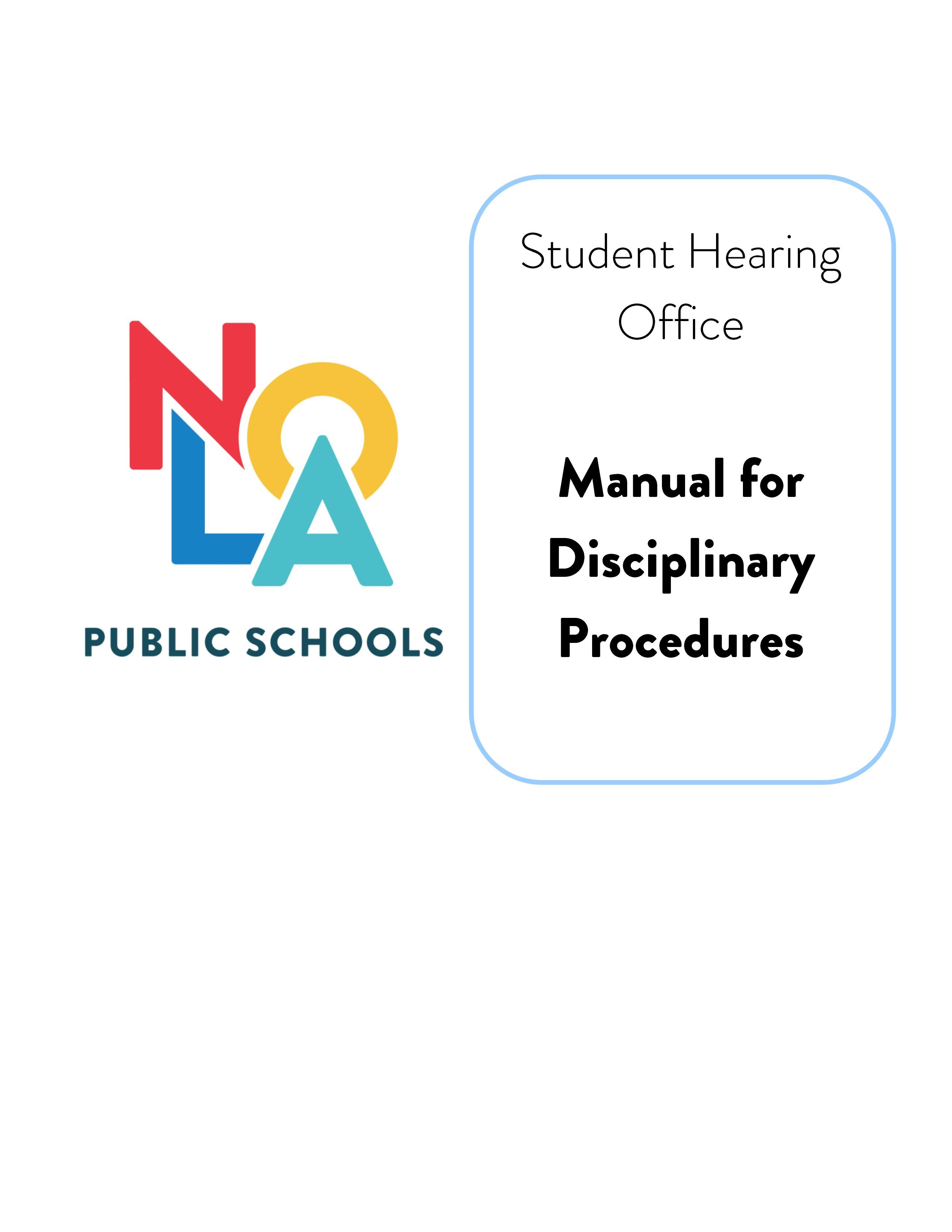 Front page of Student Hearing Office Manual